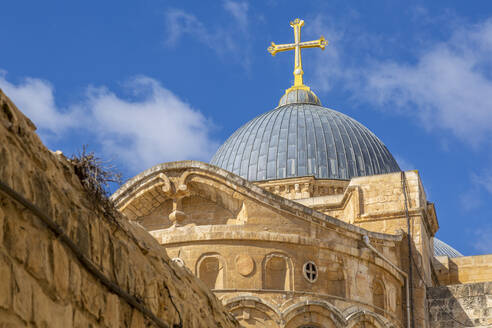 View of rooftop of Church of the Holy Sepulchre in Old City, Old City, UNESCO World Heritage Site, Jerusalem, Israel, Middle East - RHPLF07056