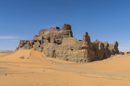 Old ksar, old town in the Sahara Desert, near Timimoun, western Algeria, North Africa, Africa - RHPLF07122