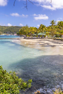 The beach at Port Elizabeth, Admiralty Bay, Bequia, The Grenadines, St. Vincent and the Grenadines, Windward Islands, West Indies, Caribbean, Central America - RHPLF07299