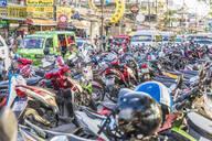 Motorbike parking in Patong, Phuket, Thailand, Southeast Asia, Asia - RHPLF07341
