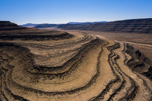 A drone shot of the Fish River Canyon, the second largest canyon in the world, Namibia, Africa - RHPLF07368