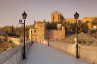 Puente de San Martin Bridge, San Juan des los Reyes Monastery, Toledo, Castilla-La Mancha, Spain, Europe - RHPLF07447