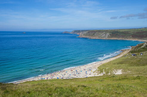 View over Sennen Cove, Cornwall, England, United Kingdom, Europe - RHPLF07829
