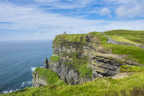 Cliffs of Moher, The Burren, County Clare, Munster, Republic of Ireland, Europe - RHPLF07835