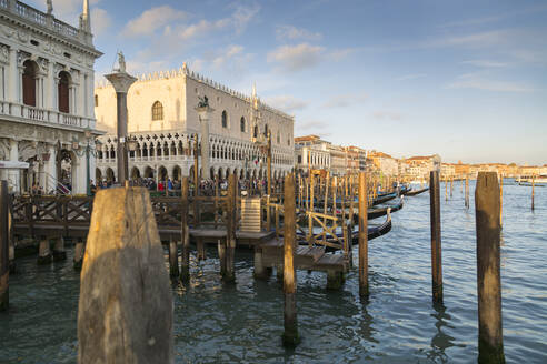 Doge's Palace and Grand Canal, Venice, UNESCO World Heritage Site, Veneto, Italy, Europe - RHPLF08195