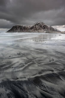 Skagsanden beach, Lofoten, Nordland, Arctic, Norway, Europe - RHPLF08558