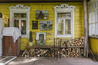 Old wooden village house terrace - AHSF00793