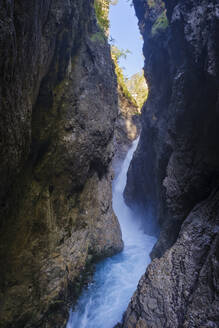 Scenic view of waterfall at Leutasch Gorge, Tyrol, Austria - SIEF09005