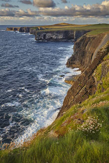 The cliffs at Loop Head, near Kilkee, County Clare, Munster, Republic of Ireland, Europe - RHPLF08649