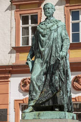 Low angle view of Maxmonument against old castle in Maximilianstrasse, Germany - LBF02699