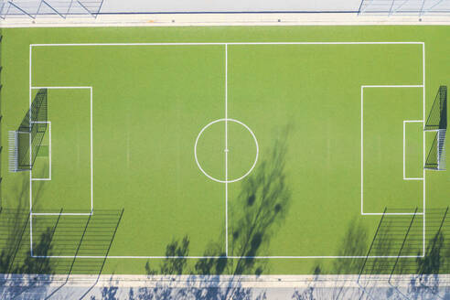 Drone view of soccer field - MMAF01114