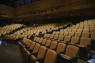 Yellow seats in empty auditorium - HEROF38578