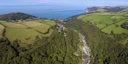 Wooded valley on the north Devon coast, Lynton, Exmoor, Devon, England, United Kingdom, Europe - RHPLF09352