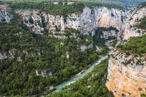 Verdon Gorge (Grand Canyon du Verdon), Alpes de Haute Provence, South of France, France - RHPLF09685