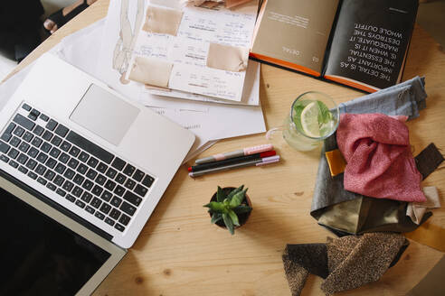 Desk of a fashion designer - ALBF01145