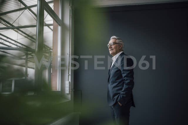 Senior businessman looking out of the window - GUSF02606 - Gustafsson/Westend61