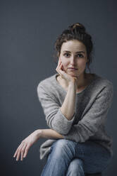 Portrait of pensive young woman - KNSF06581