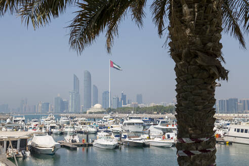 The city skyline and Marina, Abu Dhabi, United Arab Emirates, Middle East - RHPLF10068
