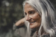 Portrait of a beautiful, white haired senior woman - JOSF03692