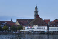 View of historic Greth by Lake Constance against blue sky in city, Überlingen, Germany - FCF01805