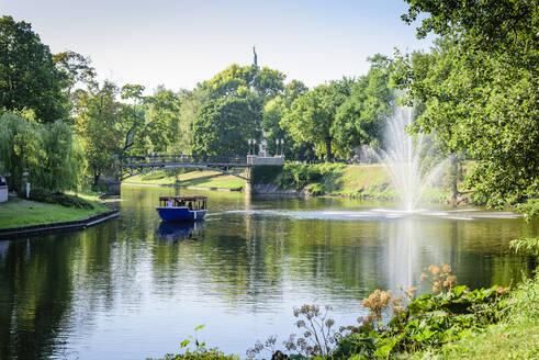 Pilsetas Canal, Batejkalna Parks, Riga, Latvia, Europe - RHPLF11247
