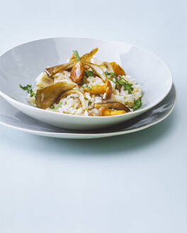 Risotto with mushrooms in a bowl - PPXF00281