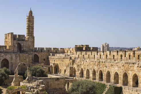 The Tower of David (Jerusalem Citadel), Old City, UNESCO World Heritage Site, Jerusalem, Israel, Middle East - RHPLF11774