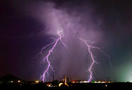 A late night lightning storm in Arlington during the 2012 Monsoon season, Arizona, United States of America, North America - RHPLF11828