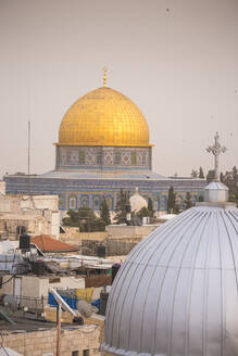 View of Dome of the Rock, Old City, UNESCO World Heritage Site, Jerusalem, Israel, Middle East - RHPLF11864