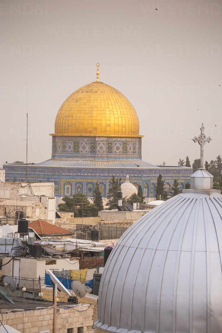 View of Dome of the Rock, Old City, UNESCO World Heritage Site, Jerusalem, Israel, Middle East - RHPLF11864 - RHPL/Westend61