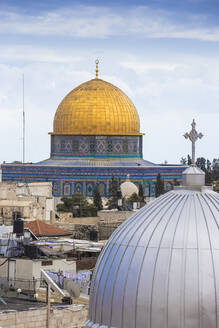 View of Dome of the Rock, Old City, UNESCO World Heritage Site, Jerusalem, Israel, Middle East - RHPLF11867
