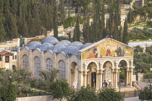 Church of All Nations (Church of the Agony) (Basilica of the Agony), Mount of Olives, Jerusalem, Israel, Middle East - RHPLF11870