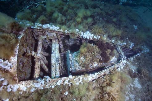 Underwater view of sunken airplane wreck - ZC00810