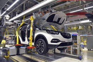 Modern automatized car production in a factory - LY00909