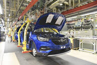 Modern automatized car production in a factory - LY00957