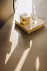 Architectural model on the floor in office - KNSF06655
