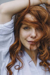 Portrait of beautiful redheaded woman - KNSF06724