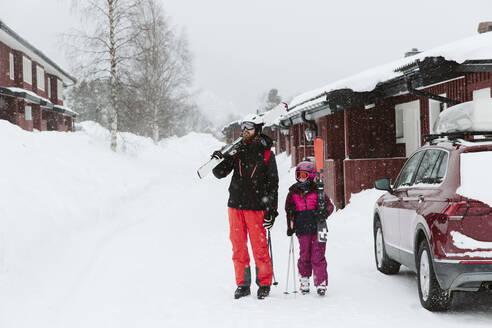 Skiers in ski resort - JOHF01238