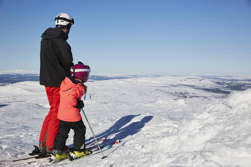 Father and son skiing - JOHF01908