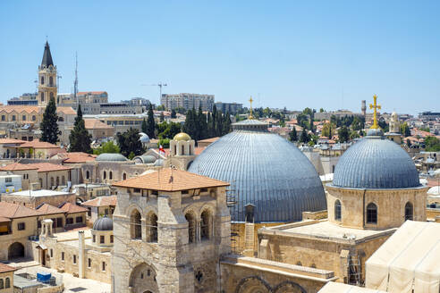Church of the Holy Sepulchre and buildings in the Old City, Jerusalem - CAVF64523