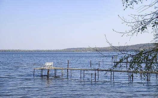 Germany, Brandenburg, Potsdam, scenic view of Sacrower See lake - HLF01155