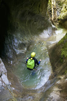 Canyoning Gloces Canyon in Pyrenees. - CAVF64686