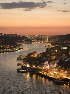 Panoramic view of Porto at sunset, Portugal - AHSF00859