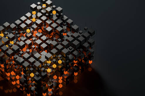 Abstract structures of illuminated cubes - JPF00403