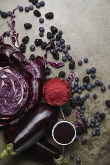 Purple fruits and vegetables - JOHF02921