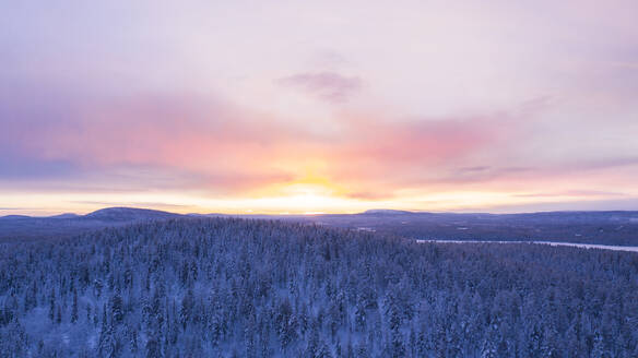 Winter landscape at sunset - JOHF03119