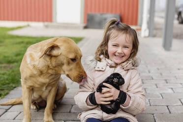 Girl with dog - JOHF03664