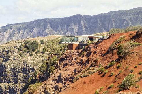 Mirador de Abrante viewing platform in the mountains, La Gomera, Canary Islands, Spain - MAMF00883