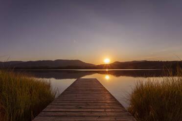 Lake Estany de Banyoles in the evening, Gerona, Spain - MOSF00106