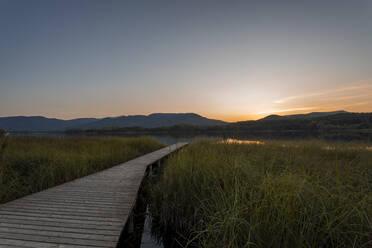 Lake Estany de Banyoles in the evening, Gerona, Spain - MOSF00109